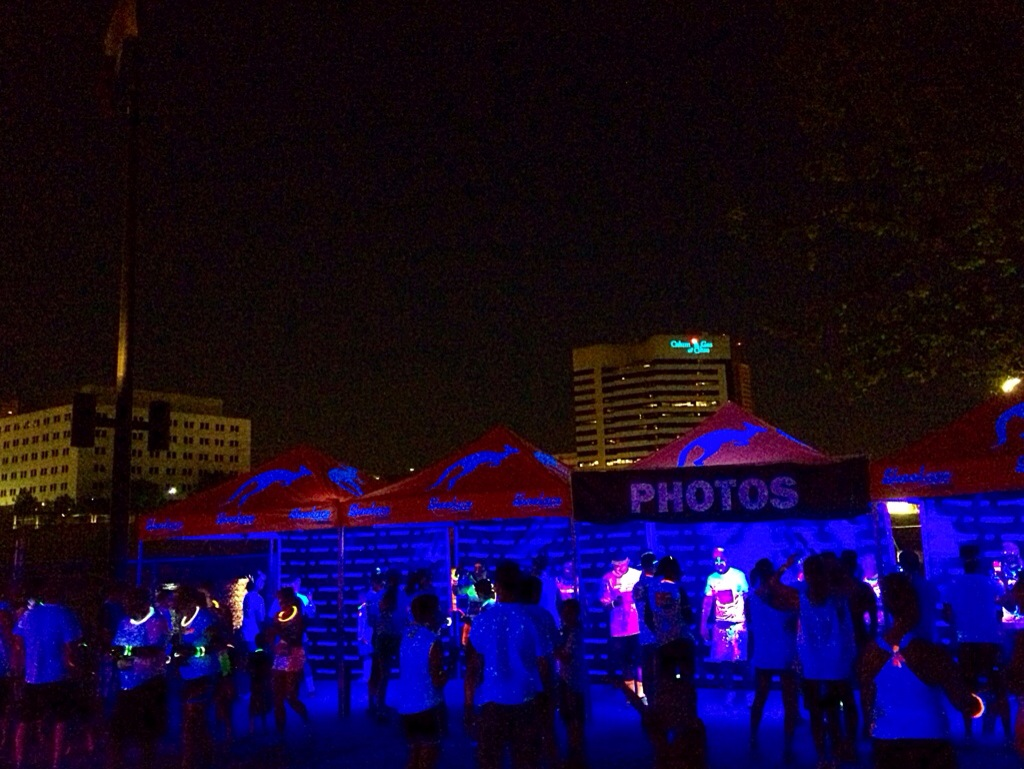 The Neon Dash 5K photo station