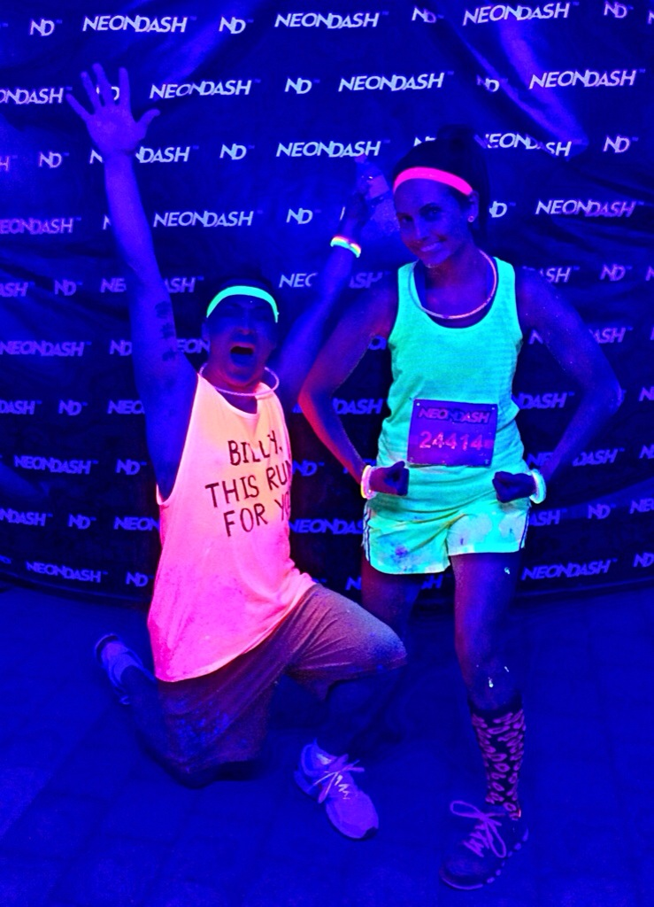 neon dash glow party