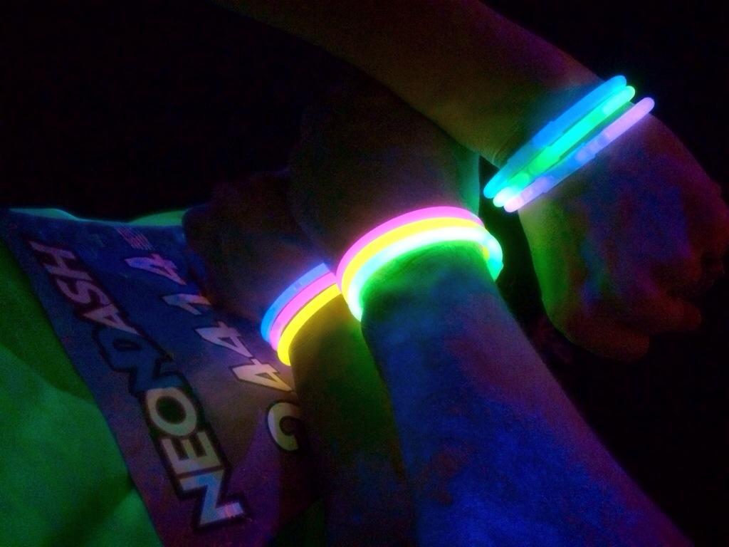 The Neon Dash bracelets