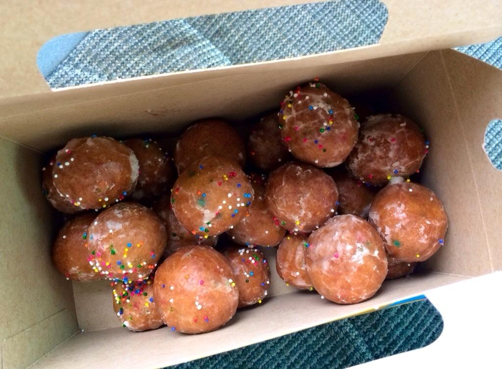 tim horton's birthday cake donuts