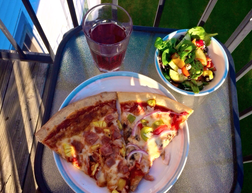 friday night pizza and salad