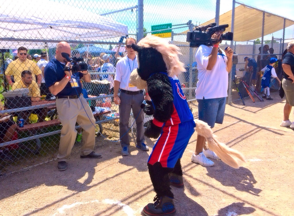HOOPER at the celebrity softball game