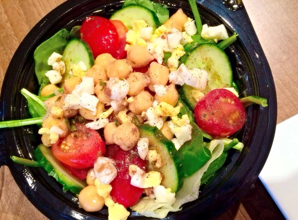 side salad with lunch