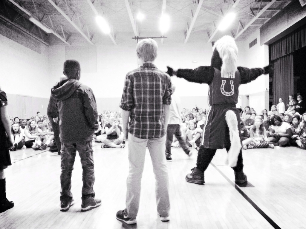 HOOPER at school show