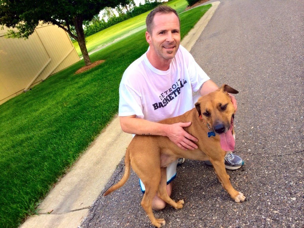 running with roadie on father's day