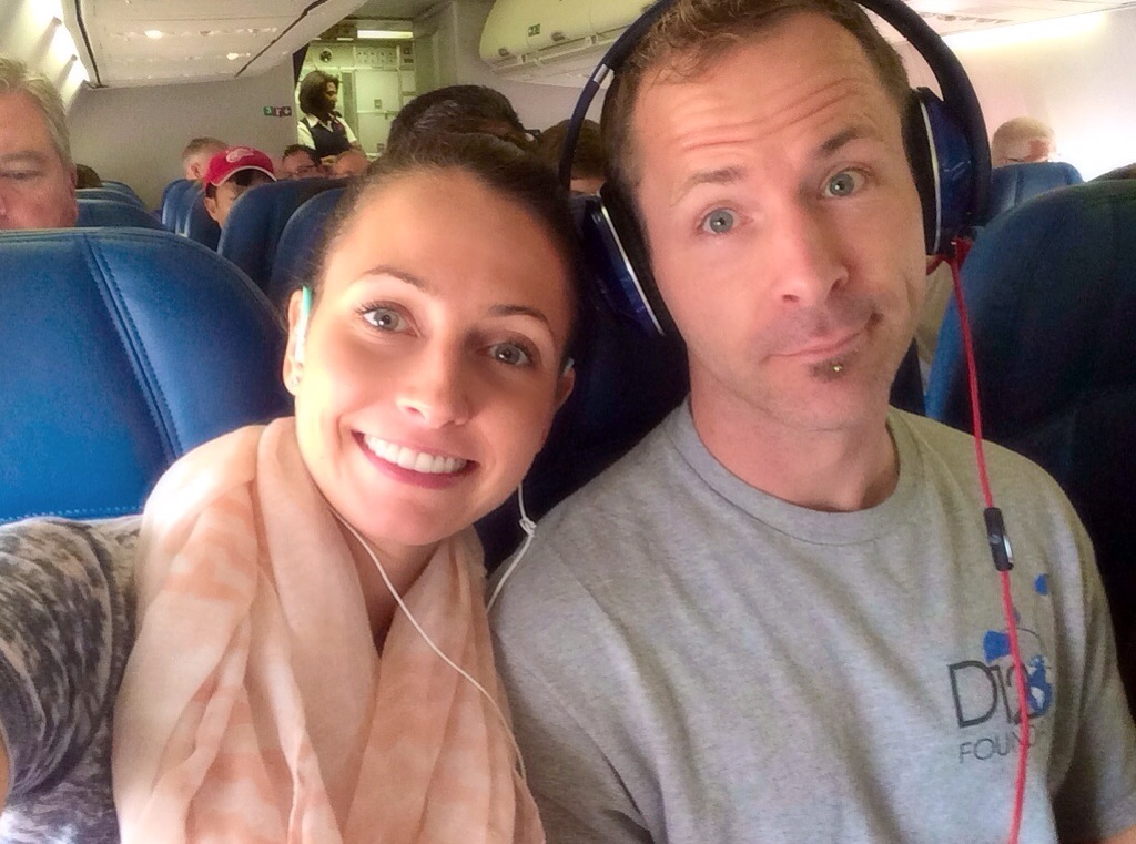 traveling on a plane with scott