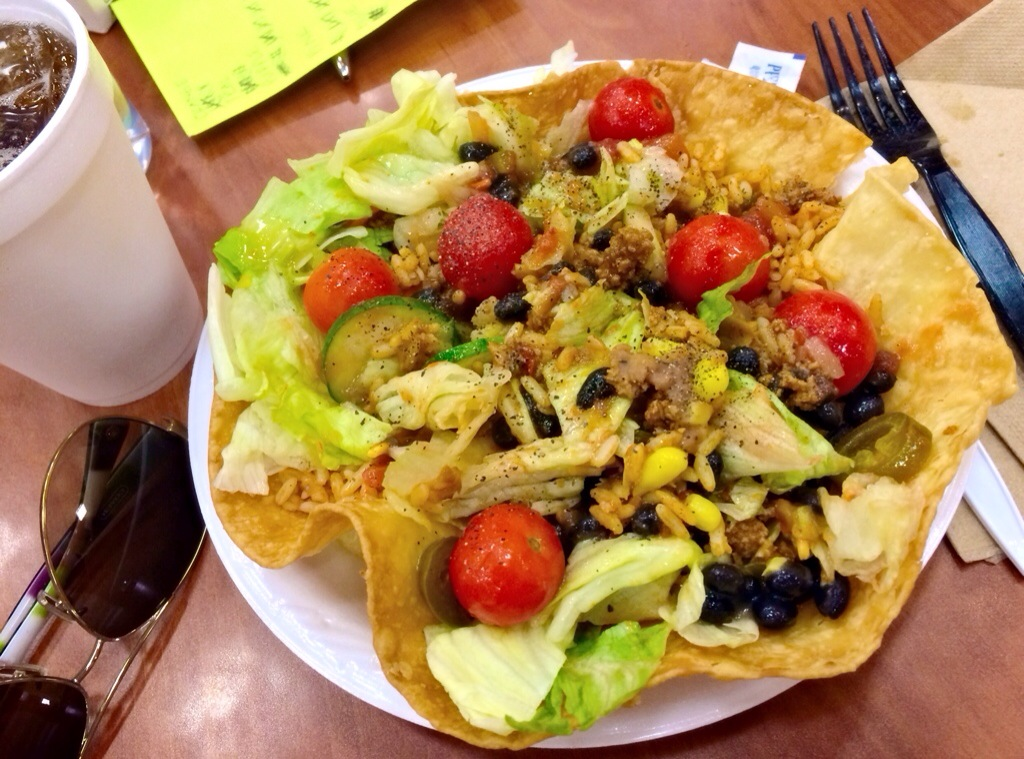 camp food taco salad