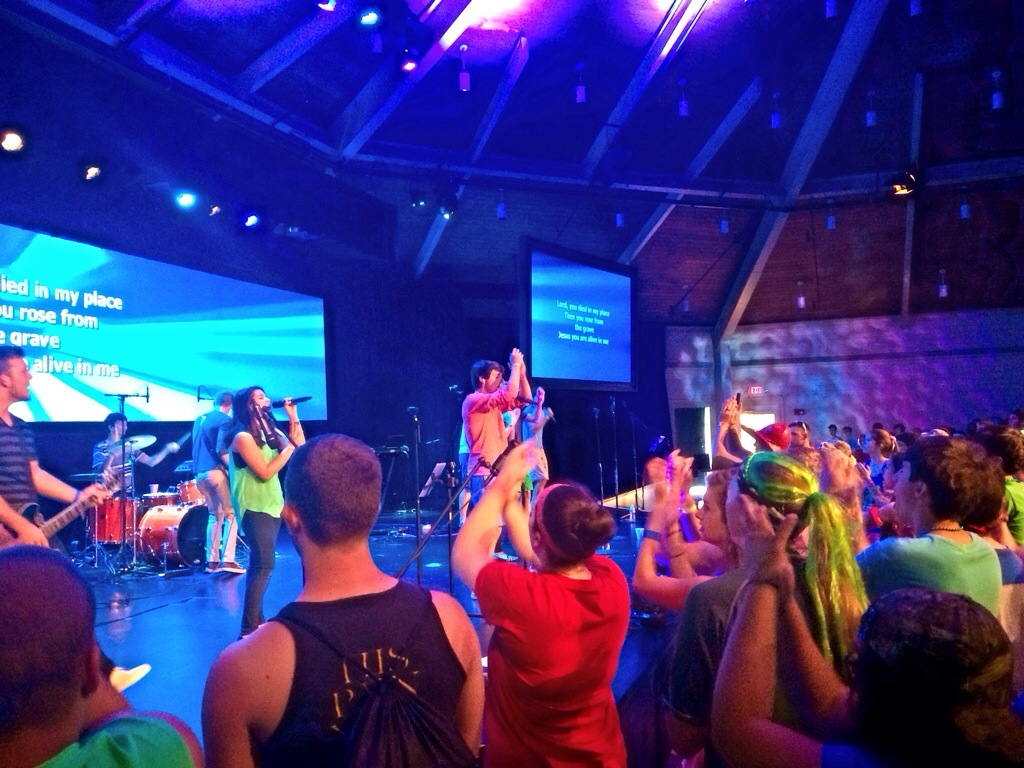Youth Worship at Camp Orlando
