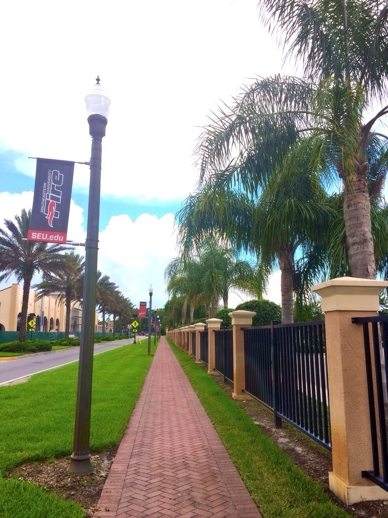Running on Southeastern University Campus