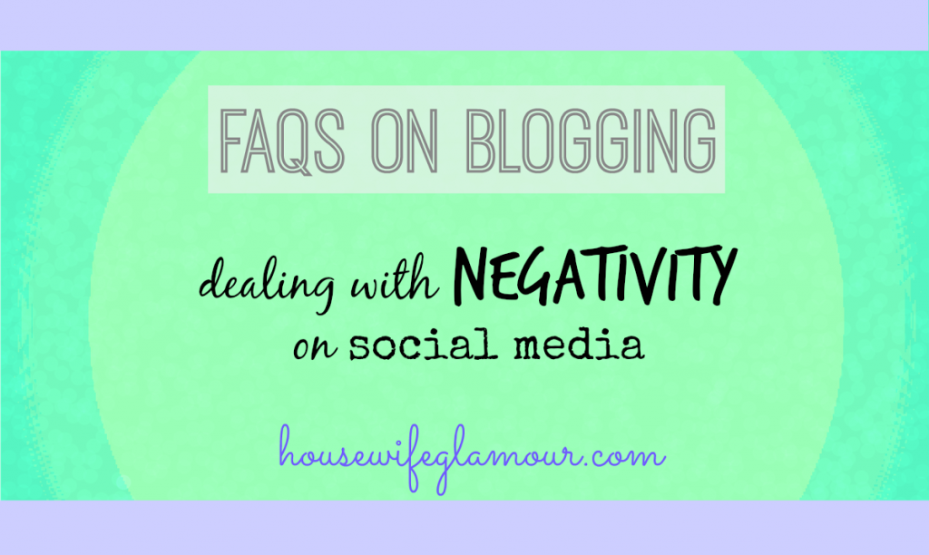 Dealing with Negativity on Social Media