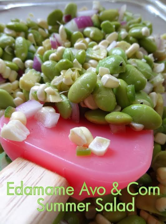 Edamame Avo & Corn Summer Salad - Nutrition Nut on the Run