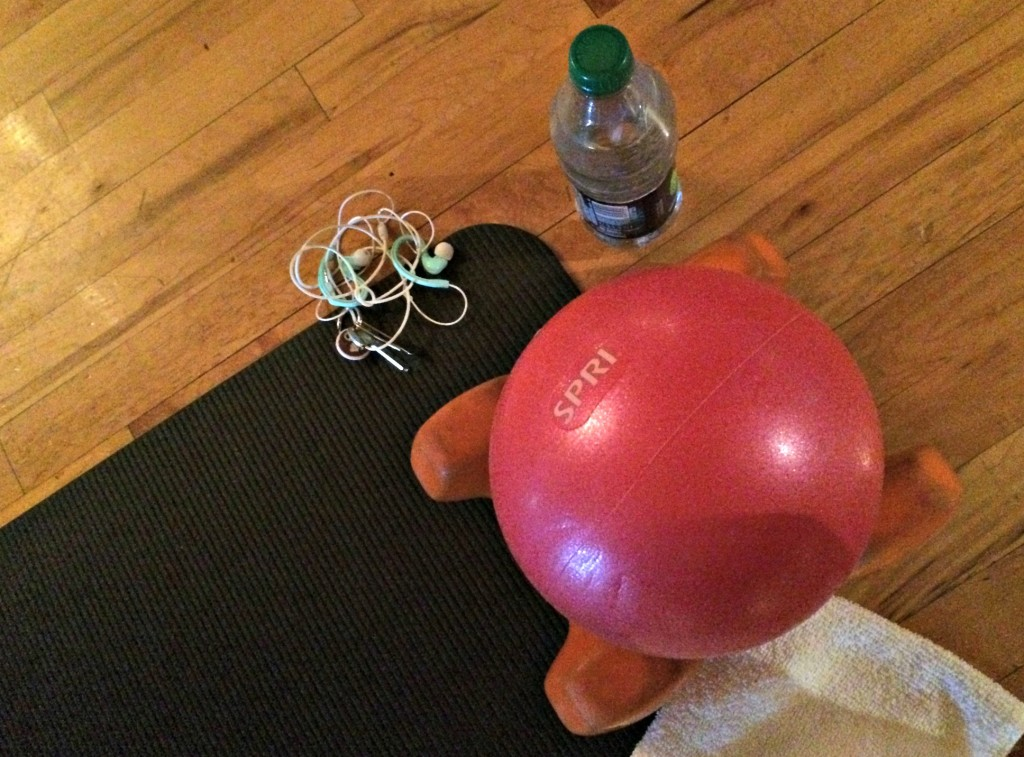 Fitness Pilates with lights out