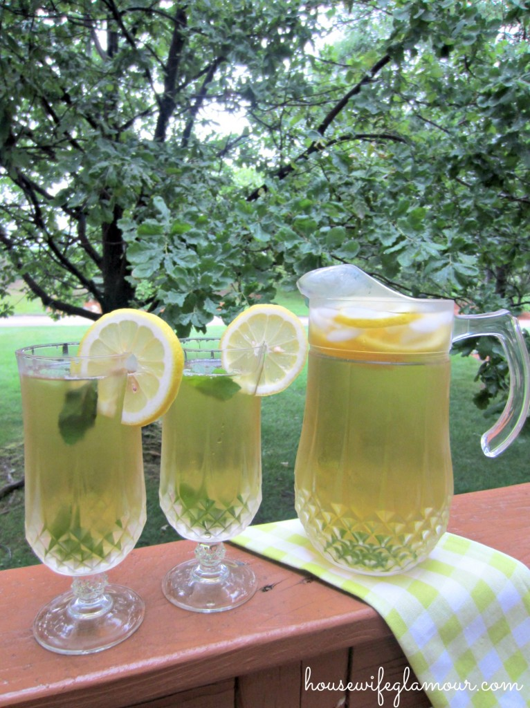 Iced Mint Lemon Green Tea
