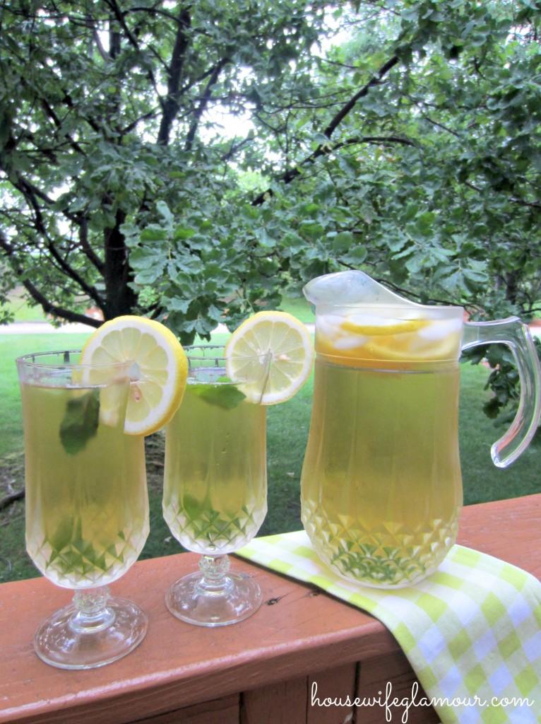 Iced Mint Lemon Green Tea