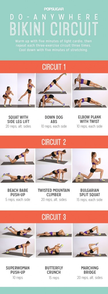 POPSUGAR Do-Anywhere Bikini Circuit Workout