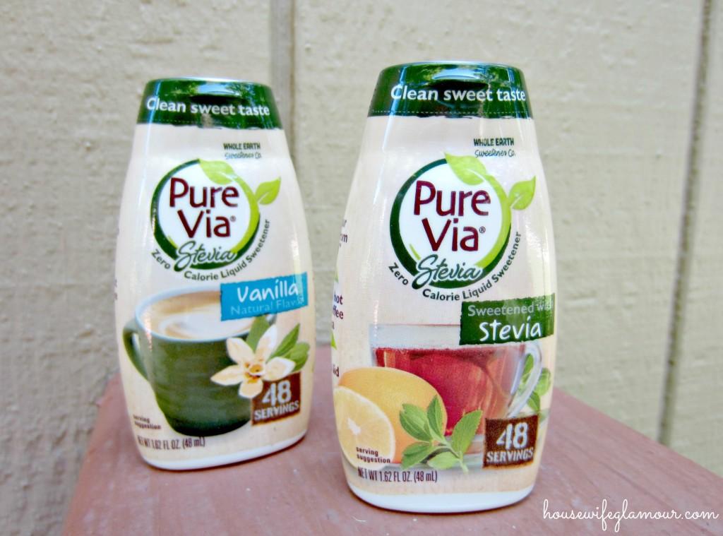 Pure Via Stevia liquid sweeteners