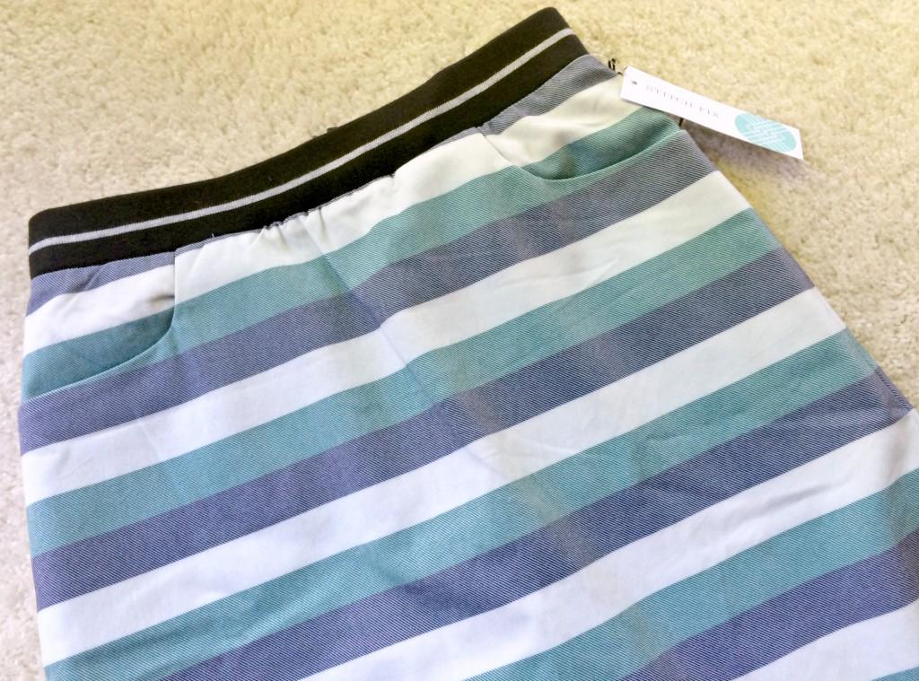 Stitch Fix 41 Hawthorn Iris Striped A-Line Skirt