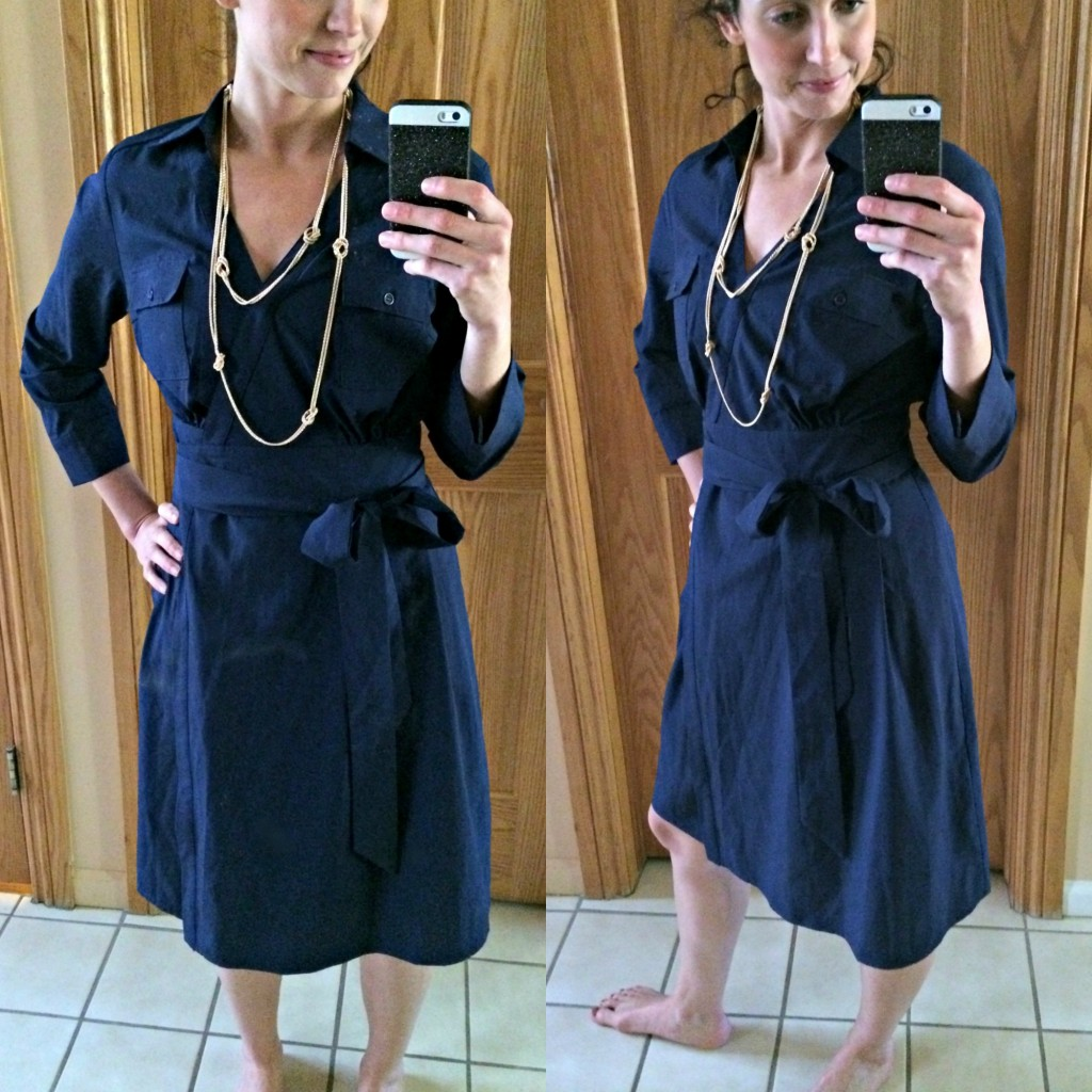 Stitch Fix 41 Hawthorn Toullouse Collared Wrap Dress collage
