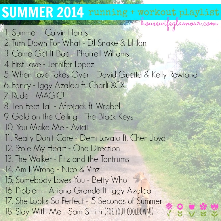 Summer 2014 Running + Workout Playlist