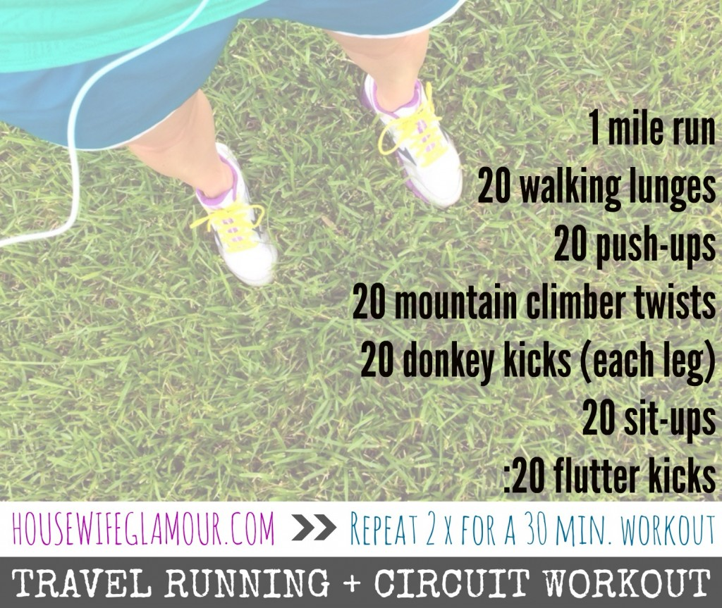 Travel Running Circuit Workout