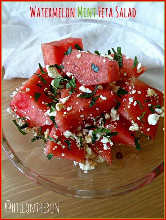Watermelon Mint Feta Salad - Nutrition Nut on the Run