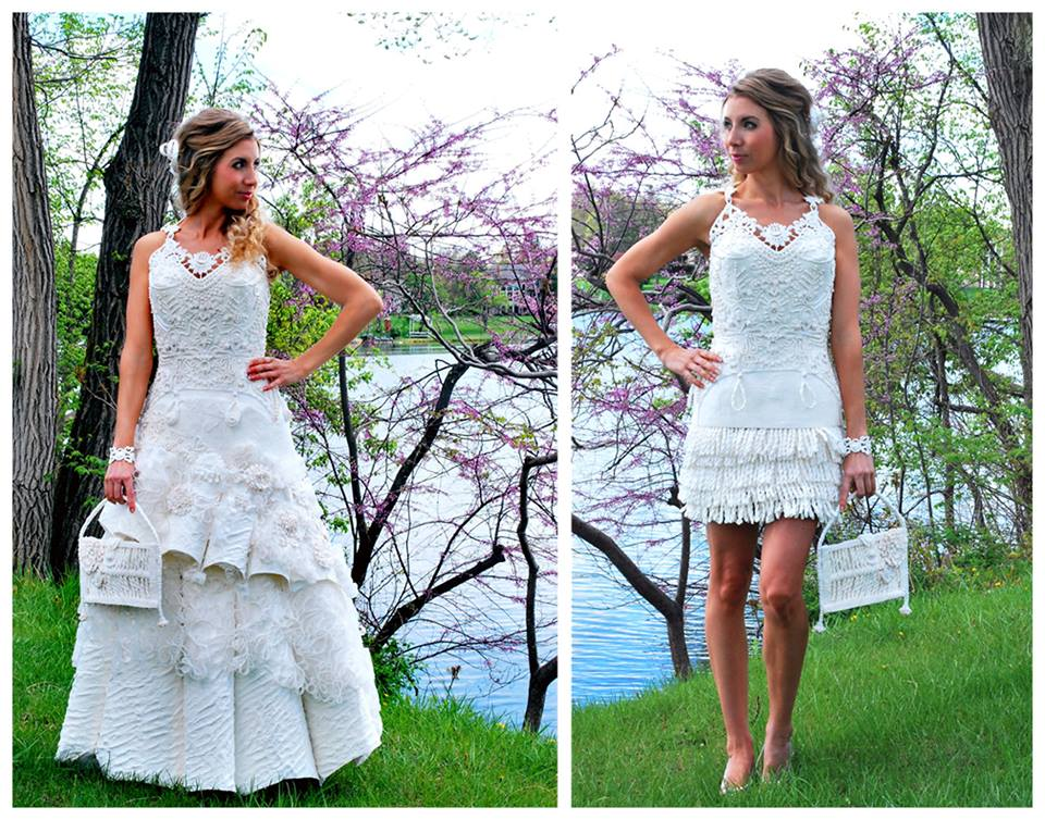 toilet paper wedding dress contest for cheap chic