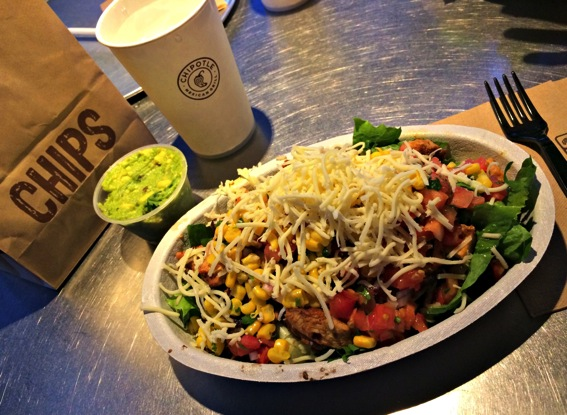 Chipotle salad with chicken and guacamole jpg