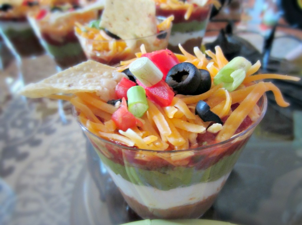 Individual dips for a party