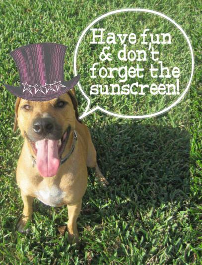 Roadie says happy 4th of july