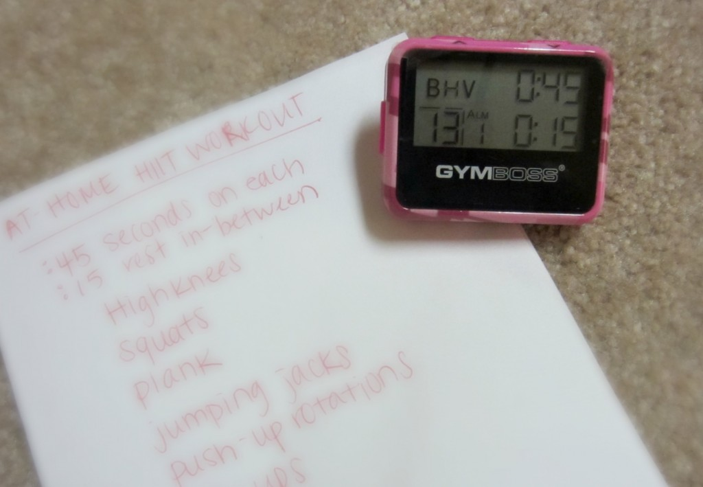 Using the GYMBOSS timer for workout