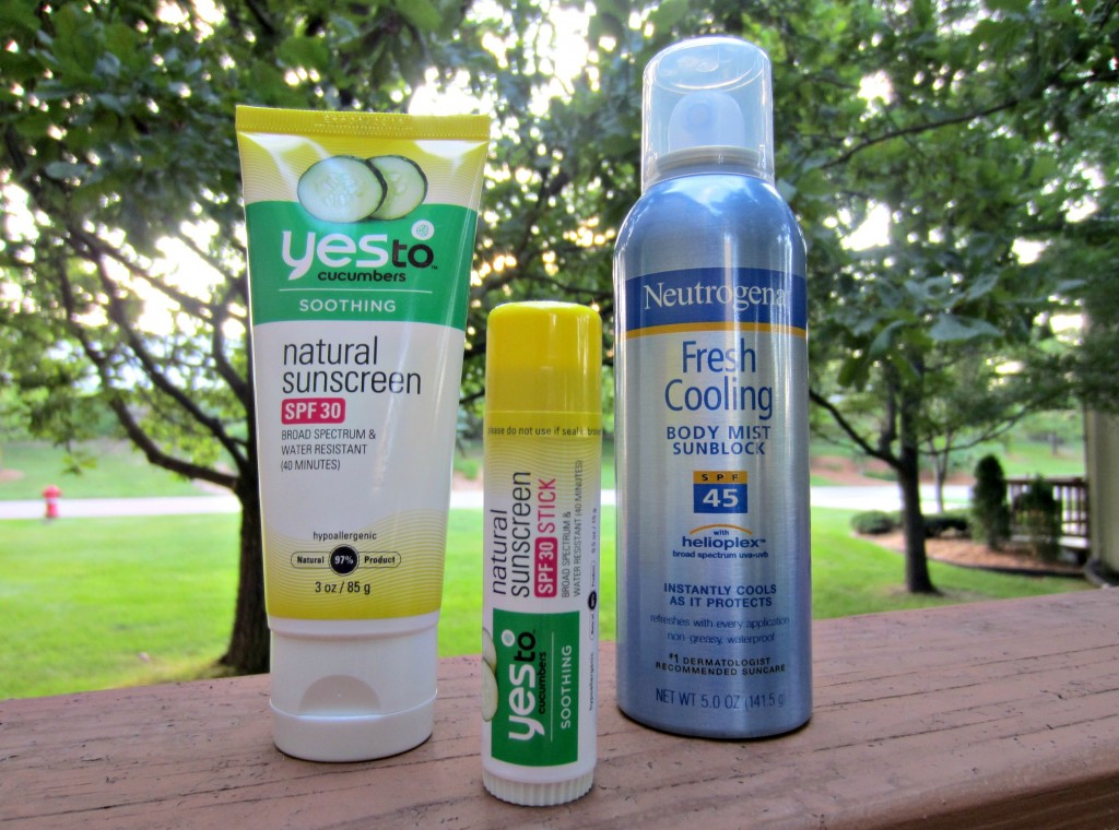 Yes To and Neutrogena sunscreen