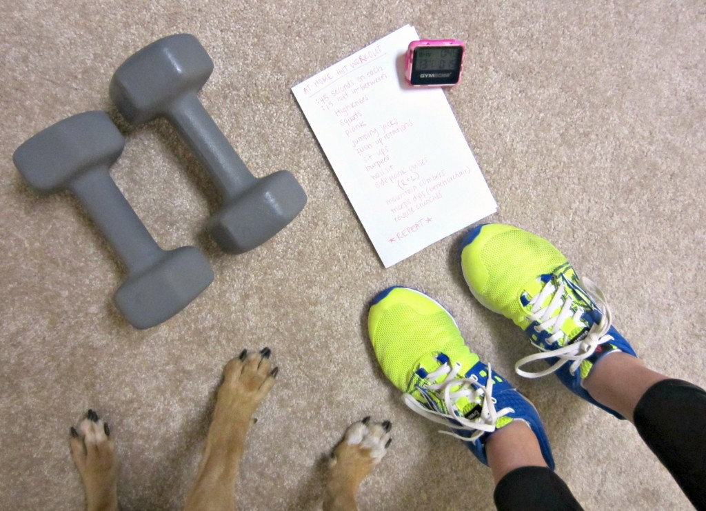 at home workout with Roadie