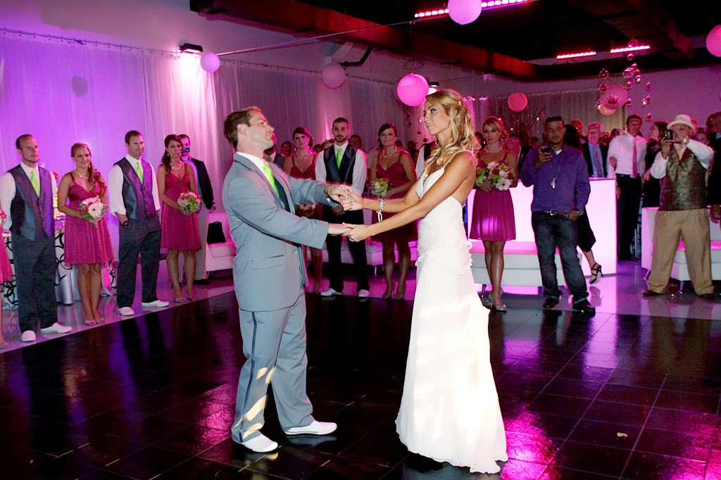 bride and groom first dance funny
