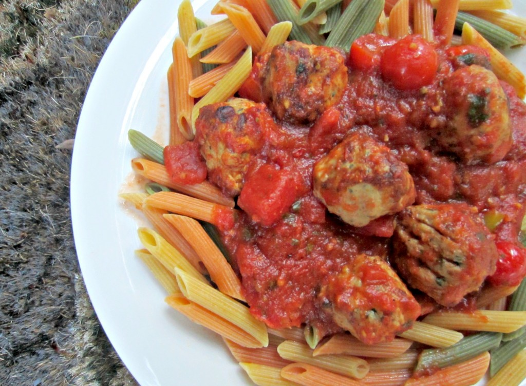chicken meatballs al fresco