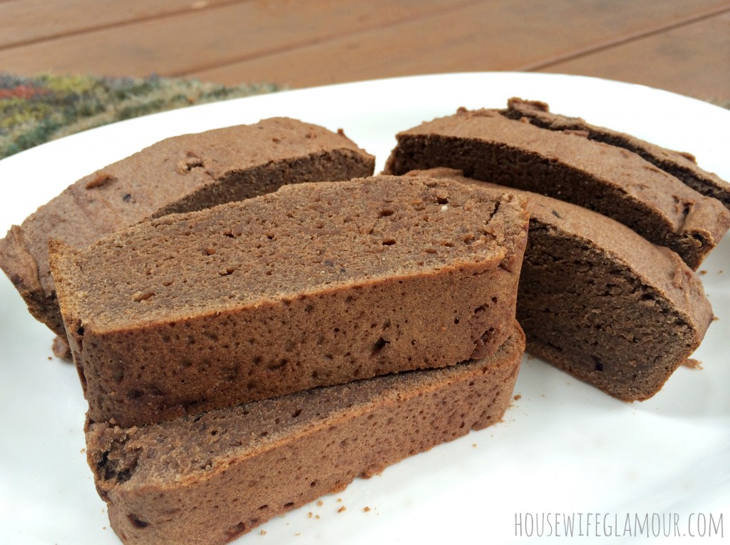 chocolate banana bread with peanut butter