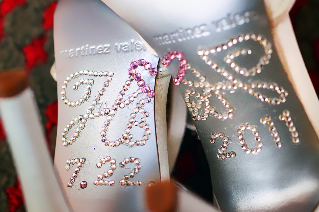 customized bridal shoes
