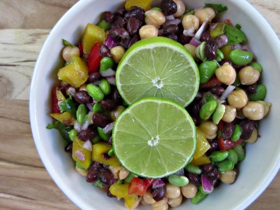 Edamame bean summer salad