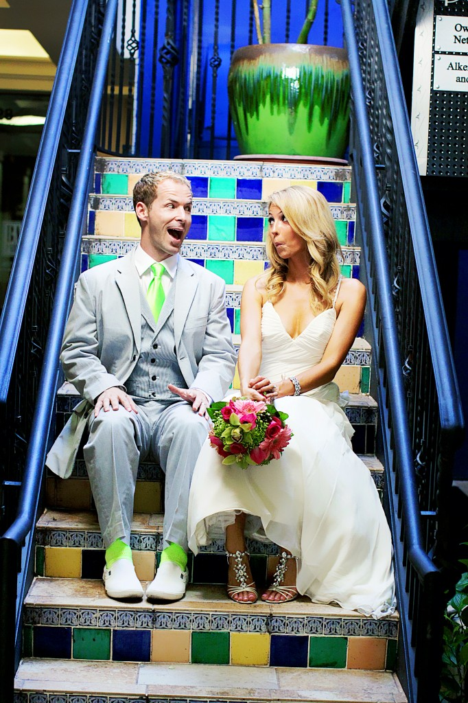 funny bride and groom photo