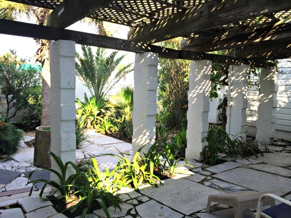 Galveston beach house courtyard jpg
