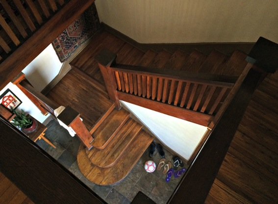 Galveston beach house staircase jpg