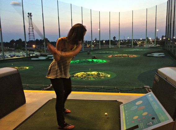Heather playing top golf jpg