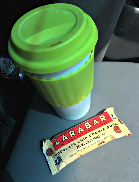Larabar and coffee for breakfast jpg