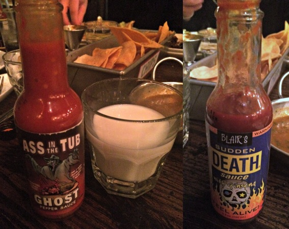 Mex hot sauces and milk jpg