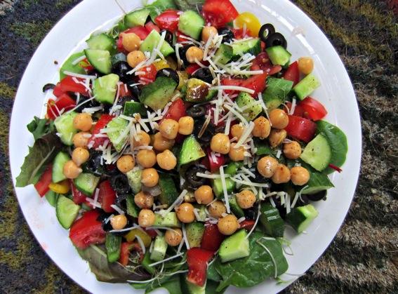 Monster veggie and bean salad jpg