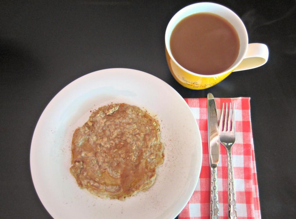 oats and egg pancake for breakfast