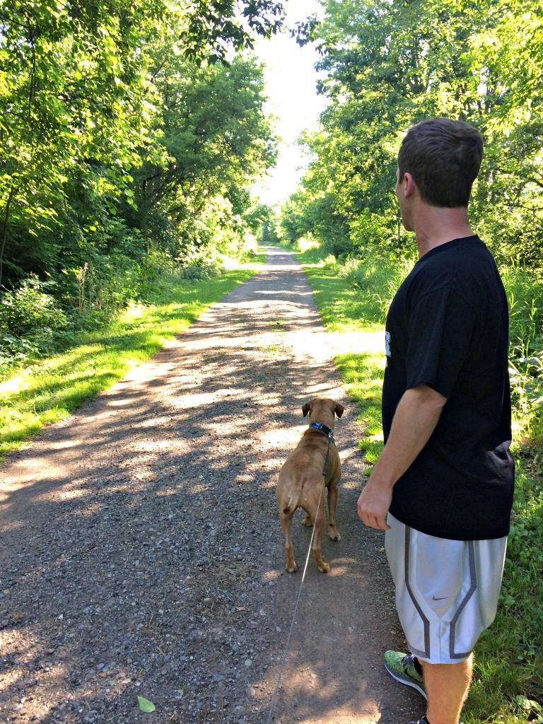 roadie and scott see a deer.jpg