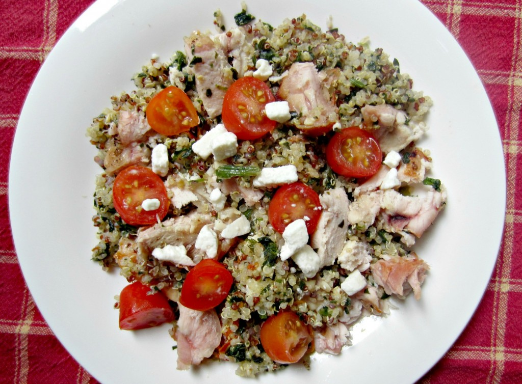 turkey and veggie quinoa lunch