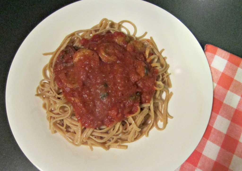 whole wheat linguine and chicken sausage