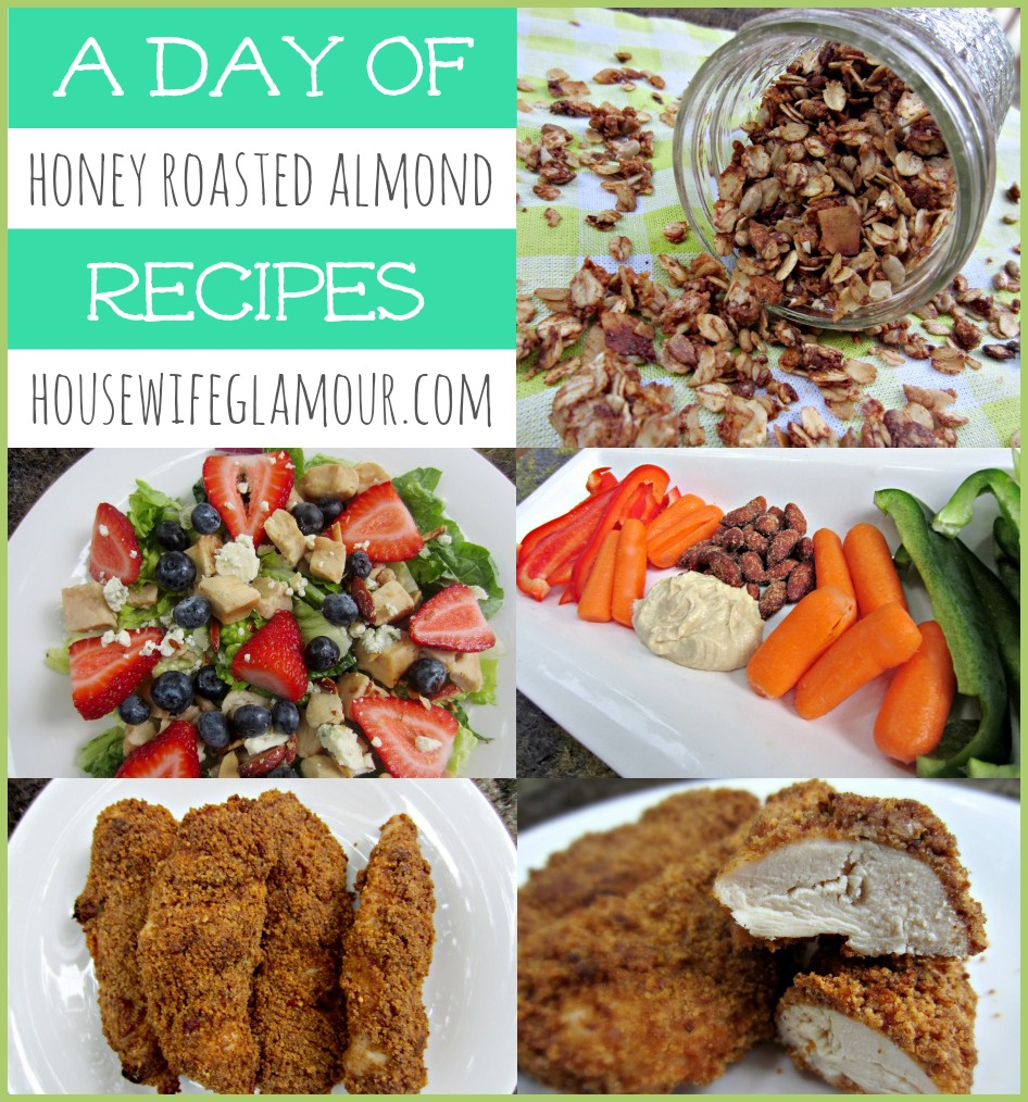 A Day of Recipes Honey Roasted Almonds