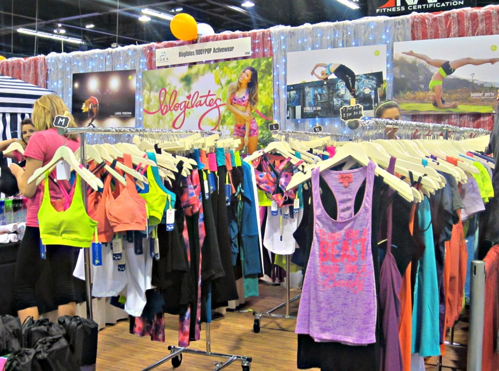 Blogilates booth at IDEA World Fitness Convention 2014